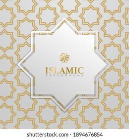 Square ornament islamic background design vector