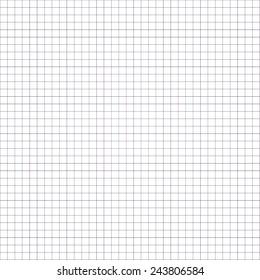 Square Paper Background For School. White. Vector illustration.