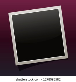 square photo frames on a bright background