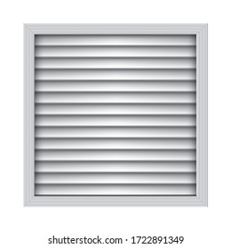 Square plastic air vent. Exhaust and supply ventilation system. Room conditioner element.