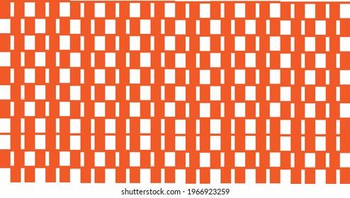 square plus square pattern orange color