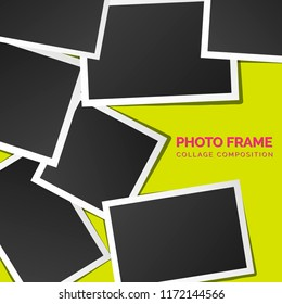 square Polaroid photo frames on a bright background