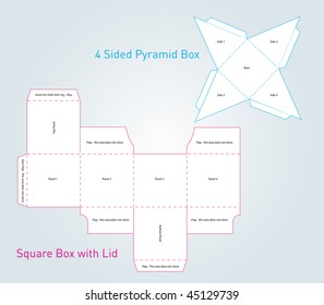 Square and Pyramid Box Templates