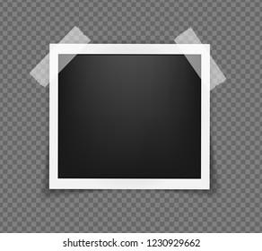 Polaroid Photo Frame Square Frame Template Stock Vector Royalty