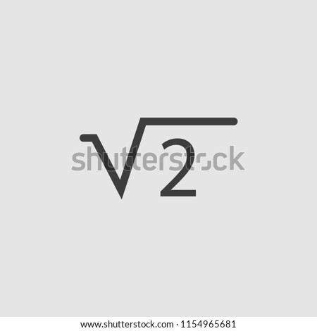 Square Root 2 Two Icon Illustration Stock Vector Royalty Free