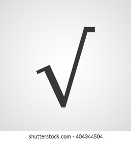 square root symbol, vector icon