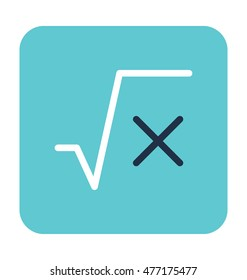 Square Root Vector Icon