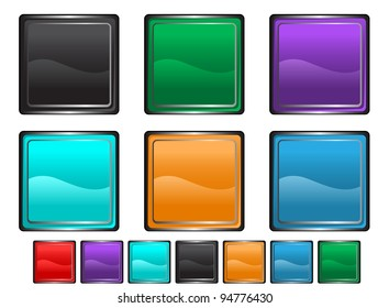 square shape icons,each icon set is set on a different layer