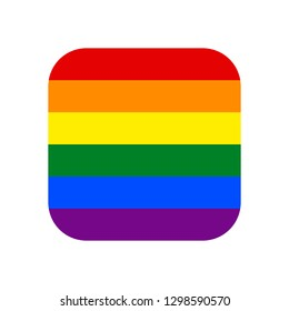 Square shape LGBT rainbow pride flag symbol. The sign created for popularizing and support the LGBT community in social media. Design graphic element is saved as a vector illustration in EPS file