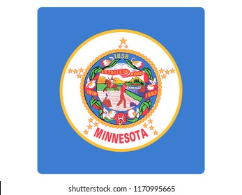 Square State Flag of Minnesota
