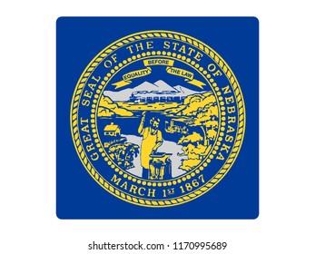Square State Flag of Nebraska