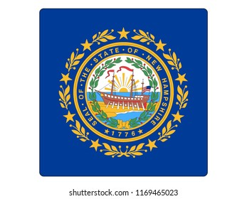Square State Flag of New Hampshire