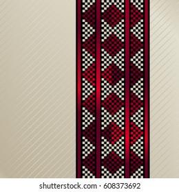 Square Tile Of An Arabian Traditional Sadu Rug Carpet Motif