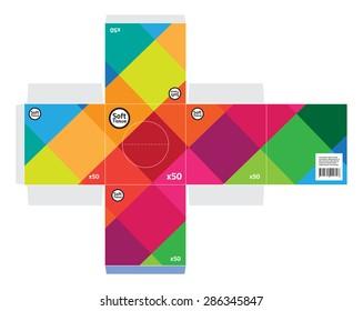 Square tissue box vector - Standard size.