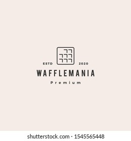 square waffle logo hipster retro vintage vector icon