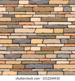 square wall of long colored natural stones on a black background