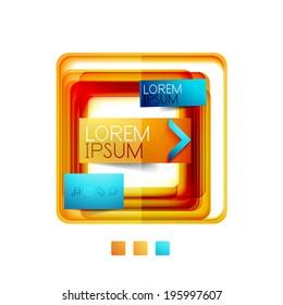 Square web design boxes - vector illustration
