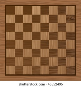 square wooden chess board with grain effect ideal background