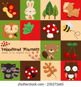 Square Woodland Card