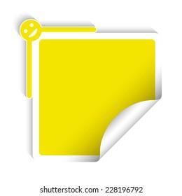 Square yellow sticker, creative design