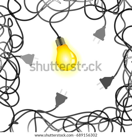 Squared Idea Vector Illustration Light Bulb Stock Vector Royalty