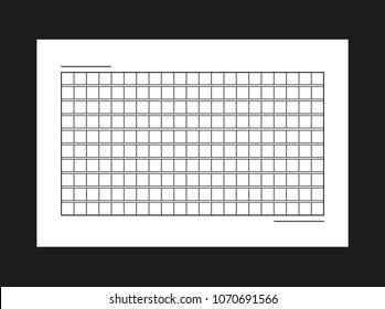 Squared manuscript vector