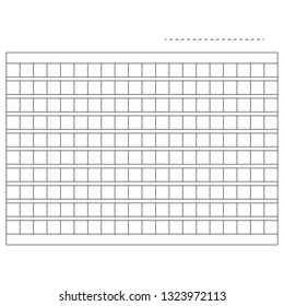 Squared manuscript vector paper stock illustration.Vector Illustration. Flat design for business financial marketing banking advertising web concept cartoon illustration