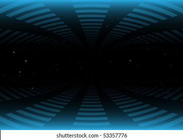 Squared vector tunnel and starfield
