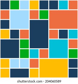 Squares Color Background. Vector Illustration Template for Flat Design Interface or Infographic
