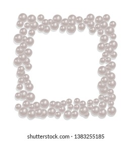 fe7074d1ed7015 ... jewelry on light background, closeup. Square-shaped frame from a  scattering of pearls, can be used for your photos