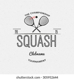 Squash badges logos and labels can be used for design, presentations, brochures, flyers, sports equipment, corporate identity, sales