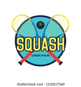 squash logo with text space for your slogan / tag line, vector illustration