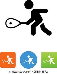 Squash / tennis forehand icon