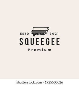 squeegee screen printing hipster vintage logo vector icon illustration