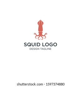 Squid logo. Abstract squid on white background. EPS 12. Vector