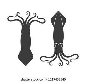 Squid logo. Isolated squid on white background. EPS 10. Vector illustration
