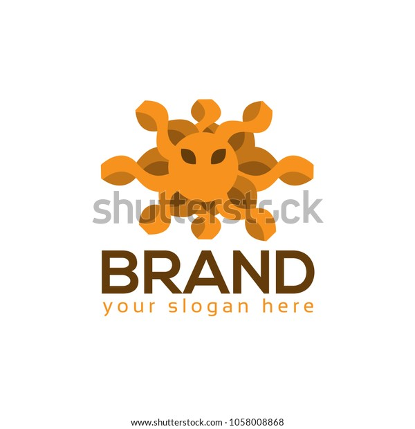 squid logo vector flat design logo stock vector royalty free 1058008868 shutterstock