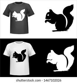 Squirel, illustration of Squirel, king, tshirt print, vector illustration
