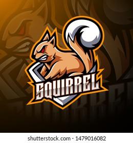 Squirrel esport mascot logo design