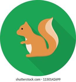 Squirrel Flat Design