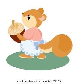 Squirrel in Girl Dress