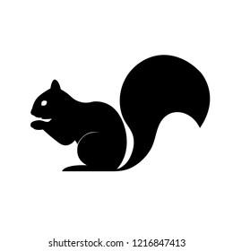 Squirrel icon, logo on white background