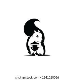 Squirrel icon. Squirrel logo template. Vector