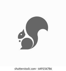 Squirrel icon. Squirrel logo template. Vector