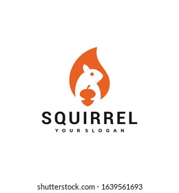 squirrel illutration vector logo design
