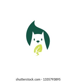 squirrel leaf logo vector icon mascot character illustration