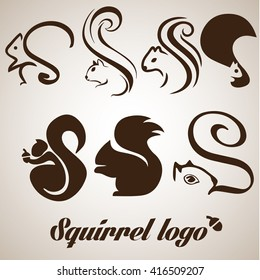 squirrel logo collection