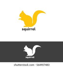Squirrel logo design vector template