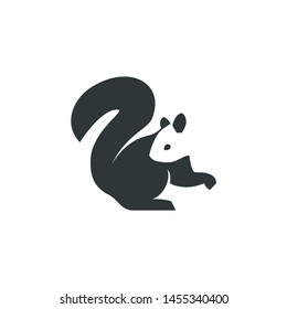squirrel logo, negative space concept