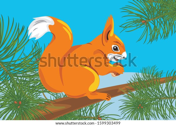 squirrel-nut-on-spruce-tree-600w-1599303